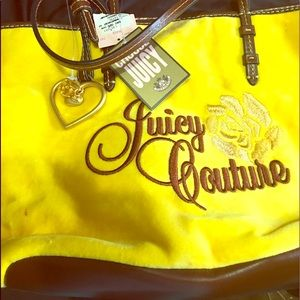 Juicy Couture hand bag velvet new